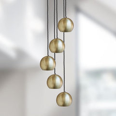 The Globe Collection Pendant Light - Brass