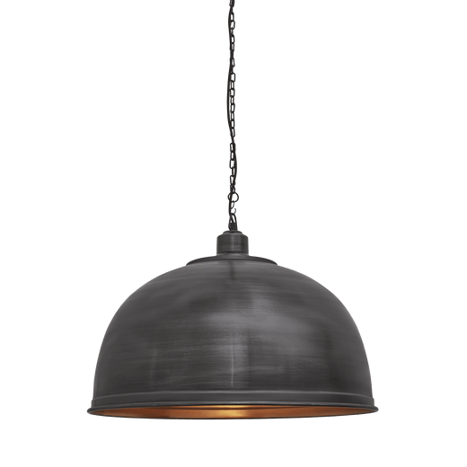Brooklyn Giant Dome Pendant - 23.5 Inch - Pewter & Copper - Out Of Stock