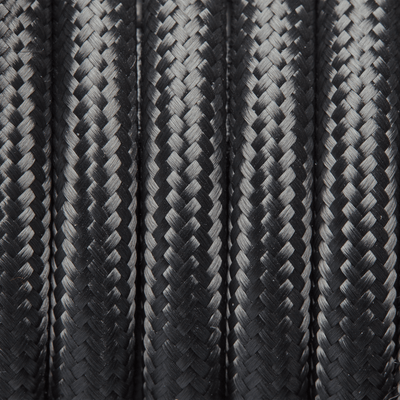 Grey Round Fabric Flex - 3 Core Braided Cloth Cable Lighting Wire