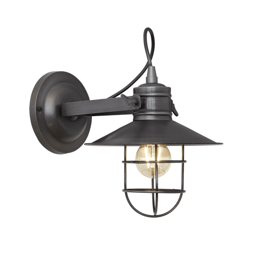 Harbour Wall Light - 6 Inch - Pewter