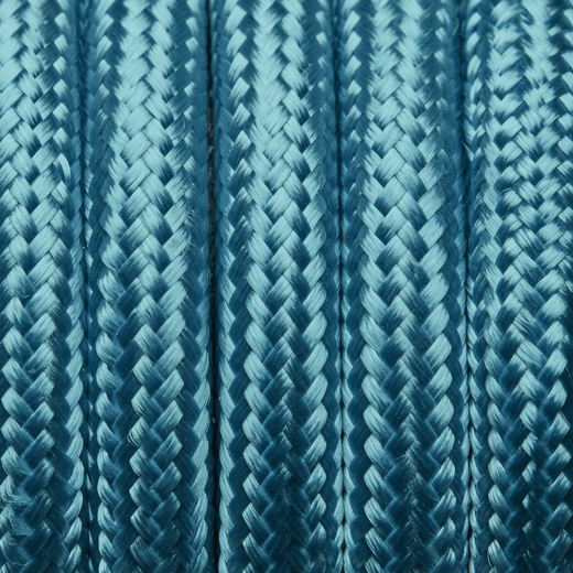 Light Blue Round Fabric Flex - Braided Cloth Cable Lighting Wire