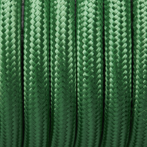 Light Green Round Fabric Flex - Braided Cloth Cable Lighting Wire