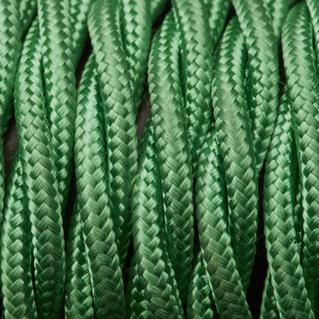 Light Green Twisted Fabric Flex - Braided Cloth Cable Lighting Wire
