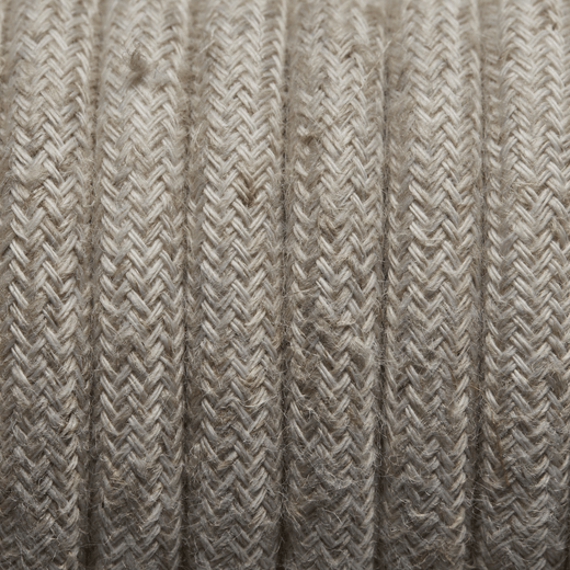 Linen Round Fabric Flex - 3 Core Braided Cloth Cable Lighting Wire