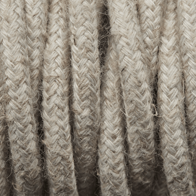 Linen Twisted Fabric Flex - Braided Cloth Cable Lighting Wire