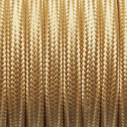 Yellow Round Fabric Flex - 3 Core Braided Cloth Cable Lighting Wire