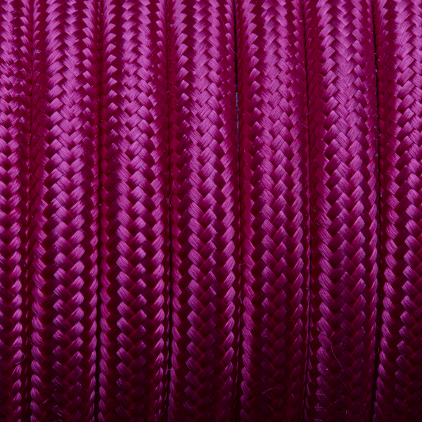 Magenta Round Fabric Flex - 3 Core Braided Cloth Cable Lighting Wire