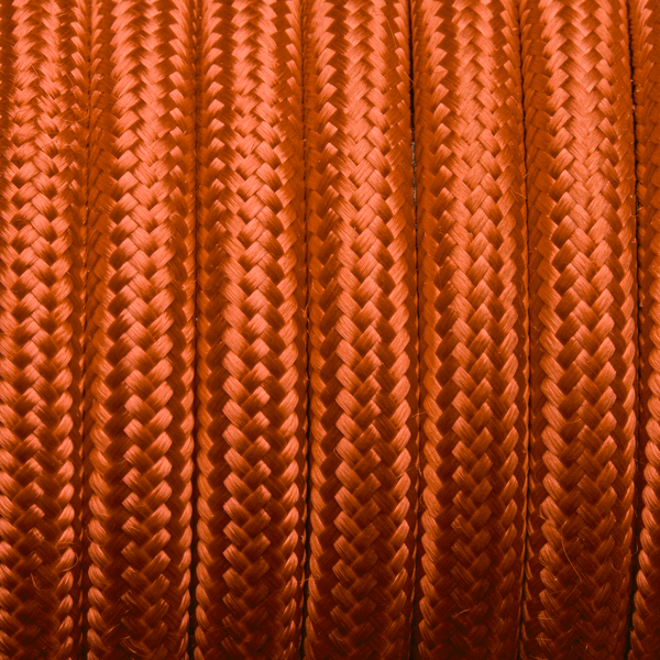 Orange Round Fabric Flex - 3 Core Braided Cloth Cable Lighting Wire