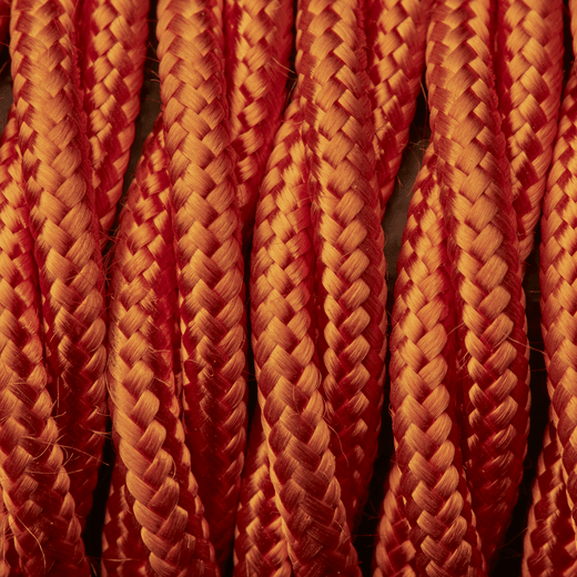 Orange Twisted Fabric Flex - 3 Core Braided Cloth Cable Lighting Wire
