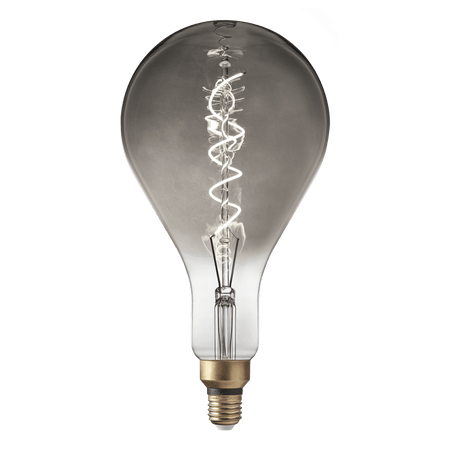 Vintage LED Edison Bulb Old Filament Lamp - 5W E27 Spiral Drop PS160 - Smoke Grey