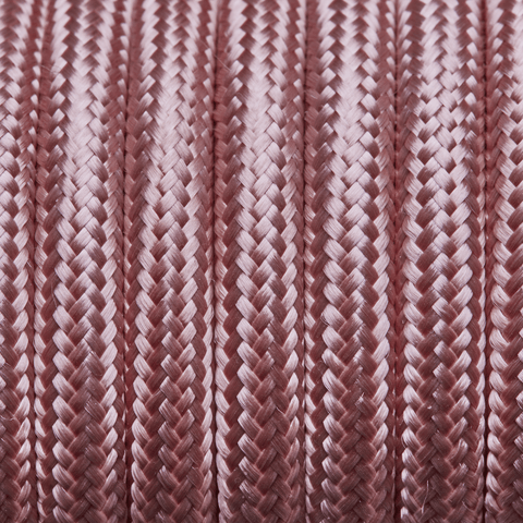 Pale Pink Round Fabric Flex - Braided Cloth Cable Lighting Wire