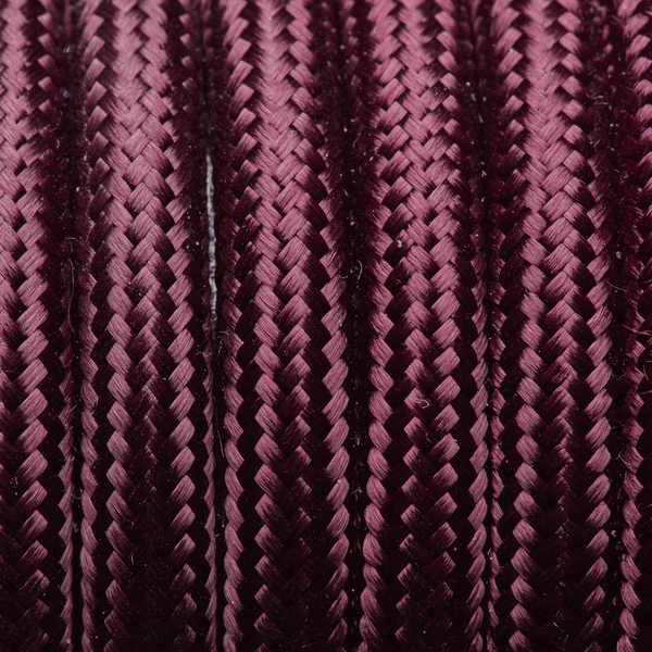 Plum Round Fabric Flex - 3 Core Braided Cloth Cable Lighting Wire