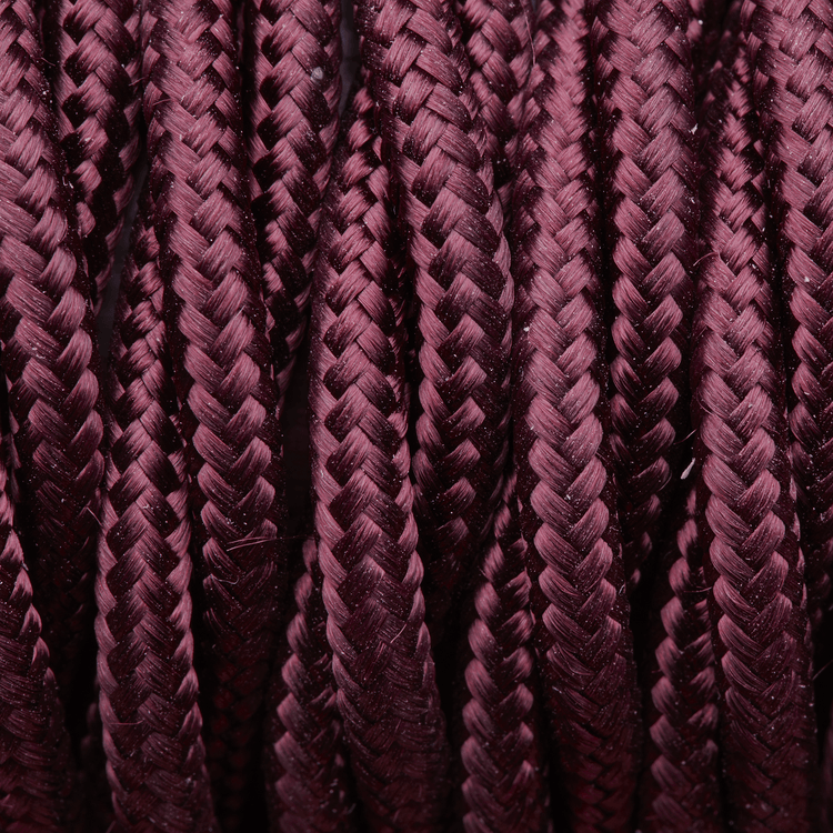 Plum Twisted Fabric Flex - 3 Core Braided Cloth Cable Lighting Wire