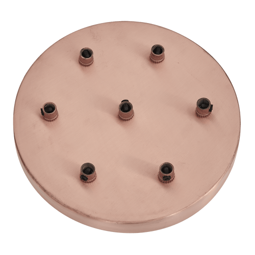 Sleek Ceiling Rose - 7 Outlet - Copper