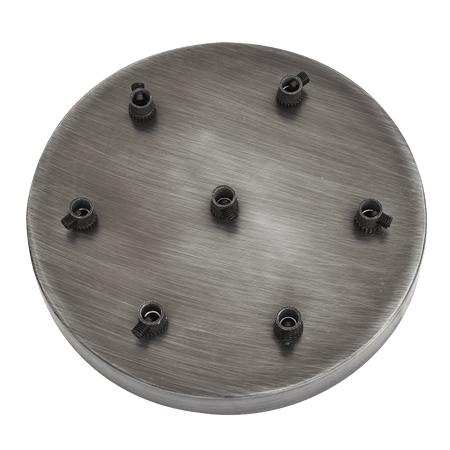 Sleek Ceiling Rose - 7 Outlet - Pewter