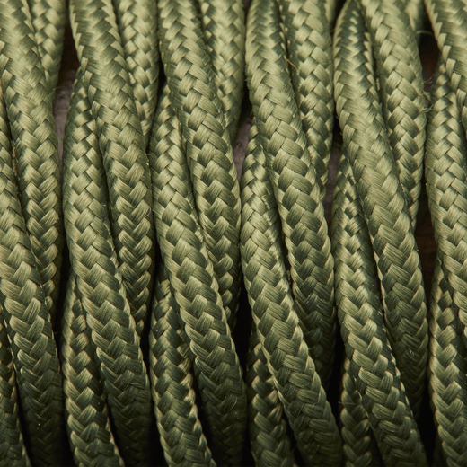 Sage Green Twisted Fabric Flex - 3 Core Braided Cloth Cable Lighting Wire