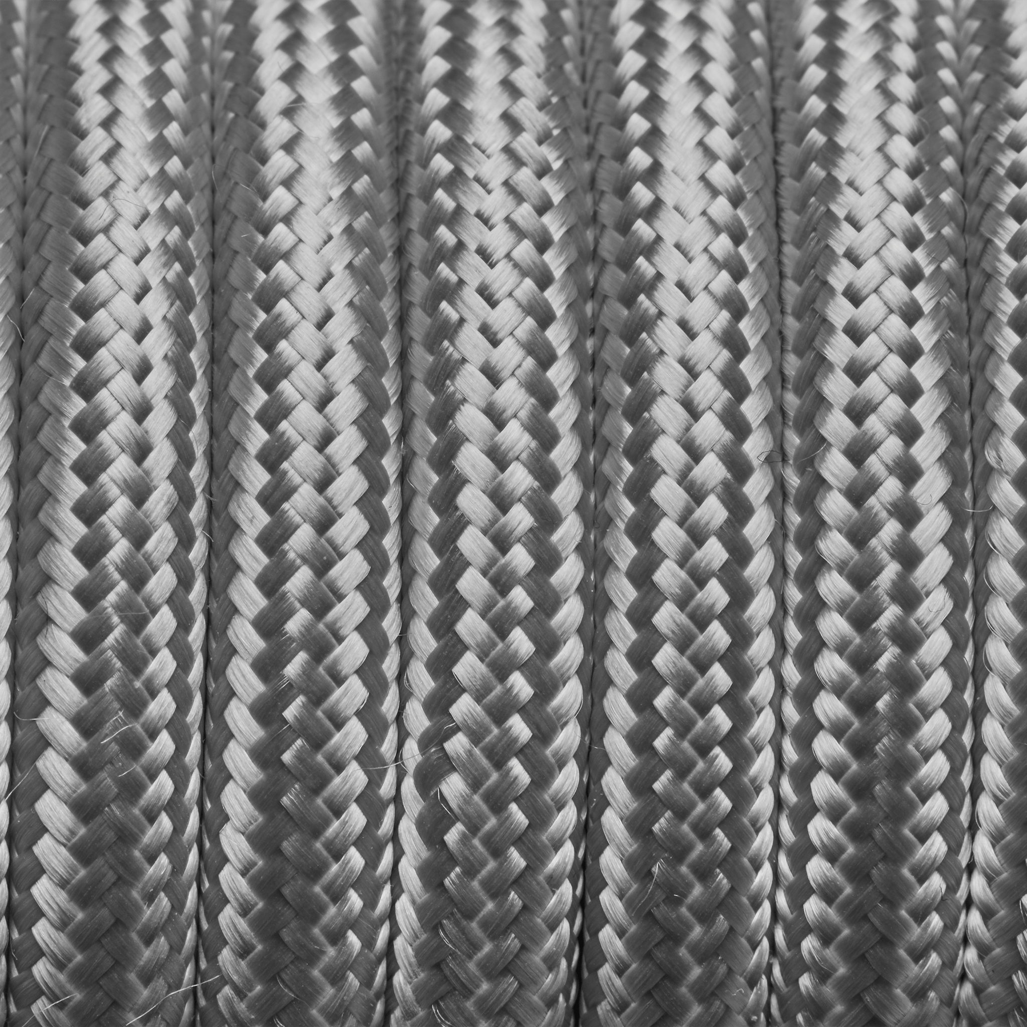 Silver Round Fabric Flex - 3 Core Braided Cloth Cable Lighting Wire ...