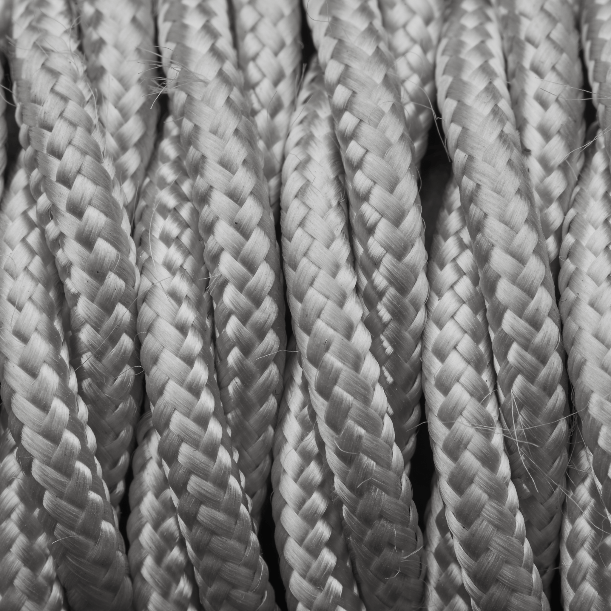 Silver Twisted Fabric Flex - 3 Core Braided Cloth Cable Lighting ...