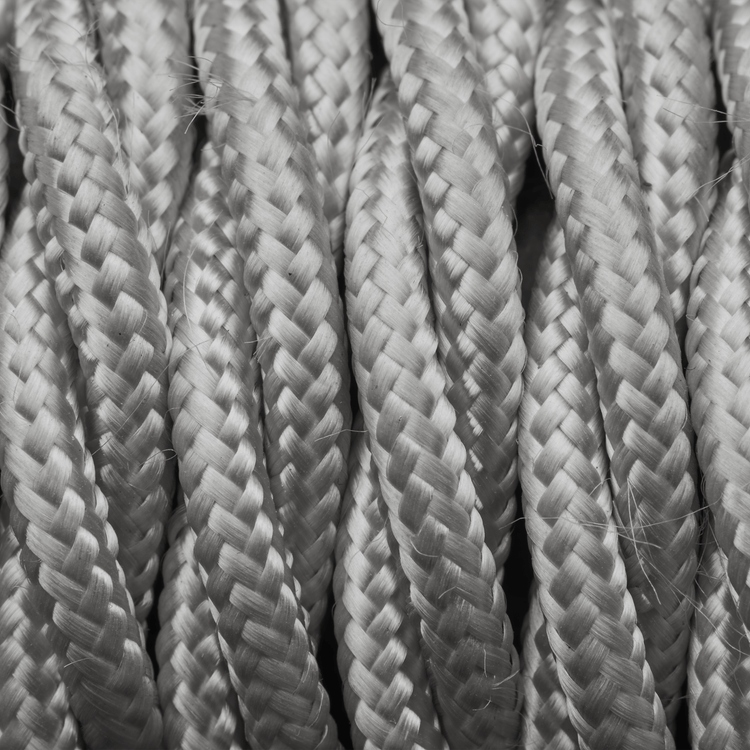 Silver Twisted Fabric Flex - 3 Core Braided Cloth Cable Lighting Wire