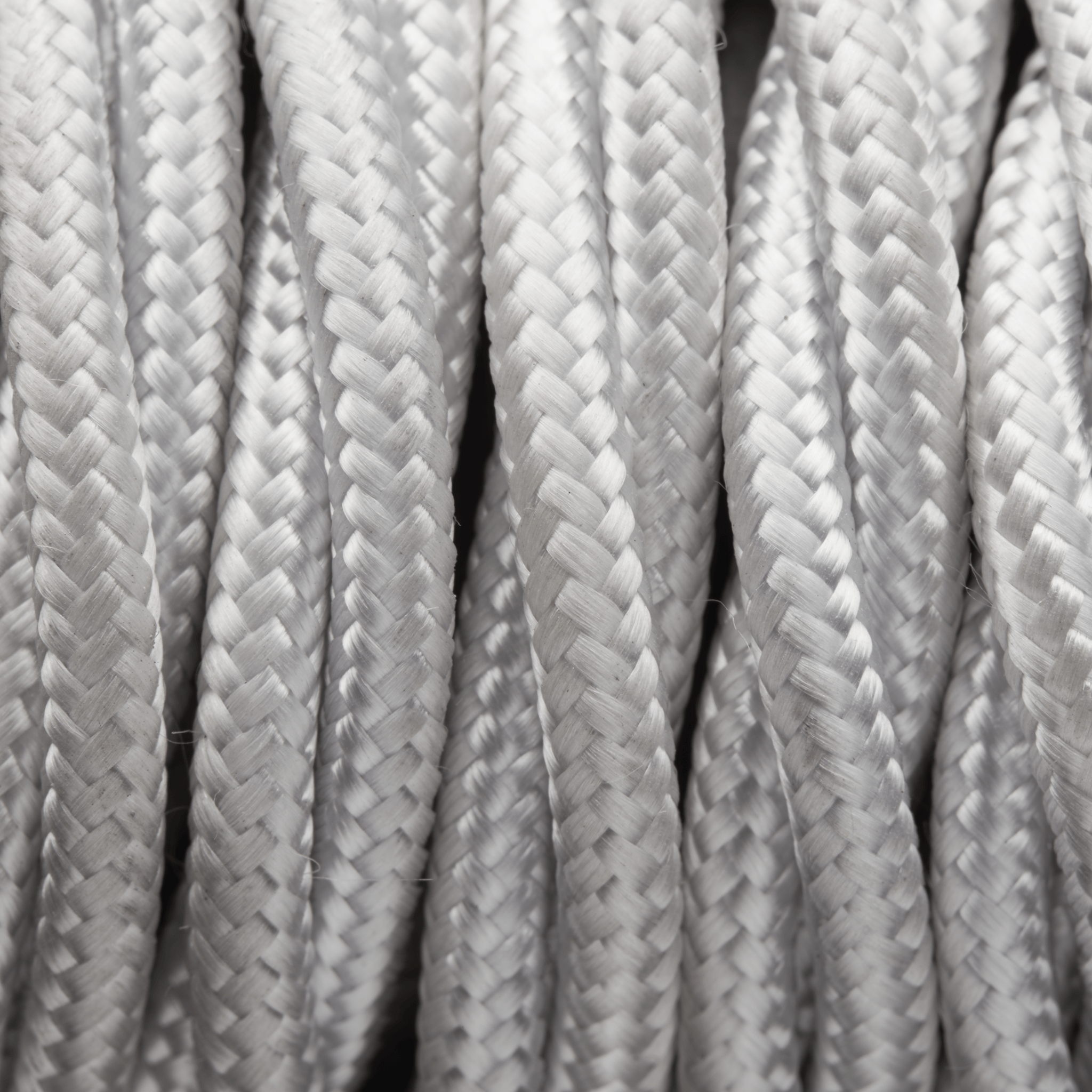 White Twisted Fabric Flex - 3 Core Braided Cloth Cable Lighting Wire ...
