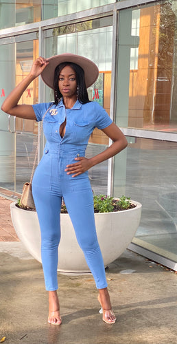 Sky Denim Jumpsuit
