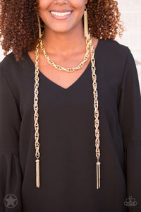 SCARFed for Attention/ Gold Necklace - Jo Glam Boutique