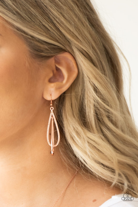 Spotlight Splendor /Copper Earrings - Jo Glam Boutique