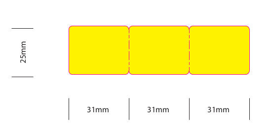POS Labels - Yellow