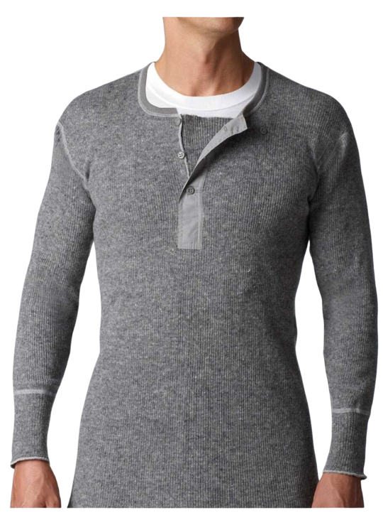 Stanfield's Heavy Weight Wool Henley