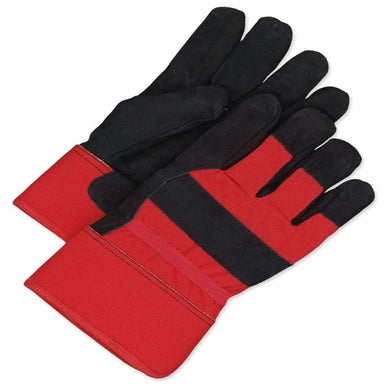 Fitter Glove Split Cowhide Pile Black/Red - Lined