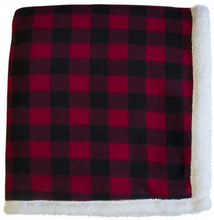 Load image into Gallery viewer, Lumberjack Sherpa Throw (50x60)
