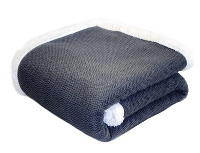 Herringbone Sherpa Throw (50x60)