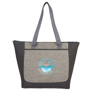 Reclaim Two-Tone Recycled Zippered Tote