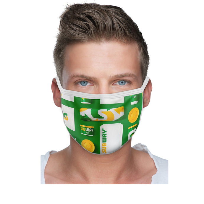 2 Ply Sublimated Polyester Mask with Filter Pocket - 250 Units with Full Color Print