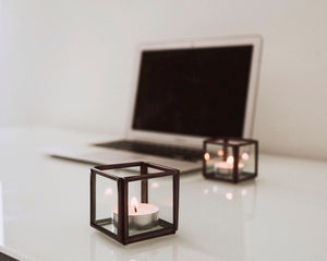 Glass Box Candle Holder
