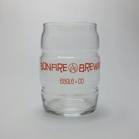 16 oz Barrel Shaped Pint Glass