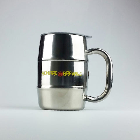 16 oz Stainless Steel Insulated Barrel Mug