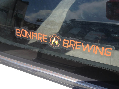 Bonfire Transparent Sticker
