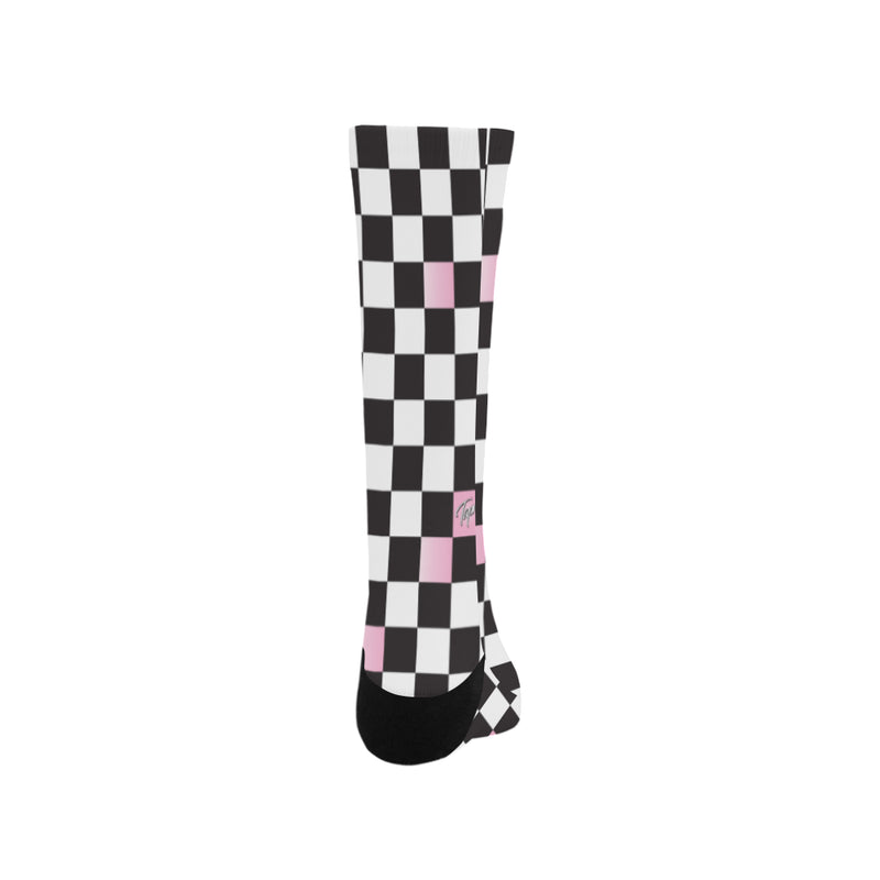 BAY MENS SOCKS - CHECKERBOARD BLUSH
