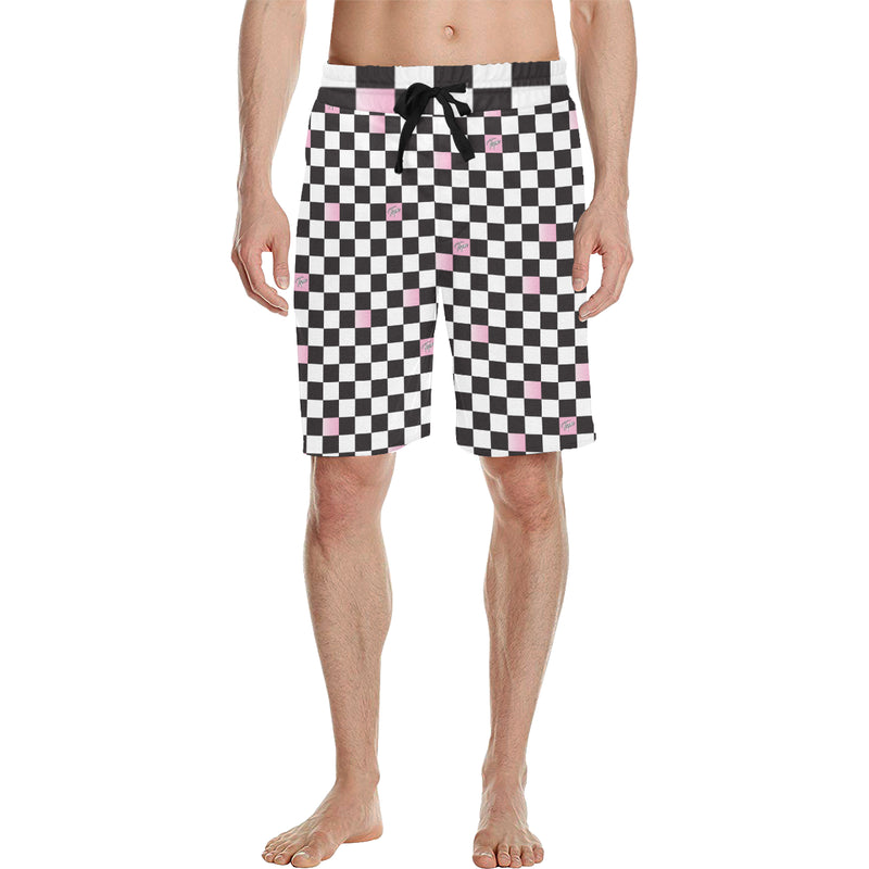CHOPPER SHORTS - CHECKERBOARD BLUSH