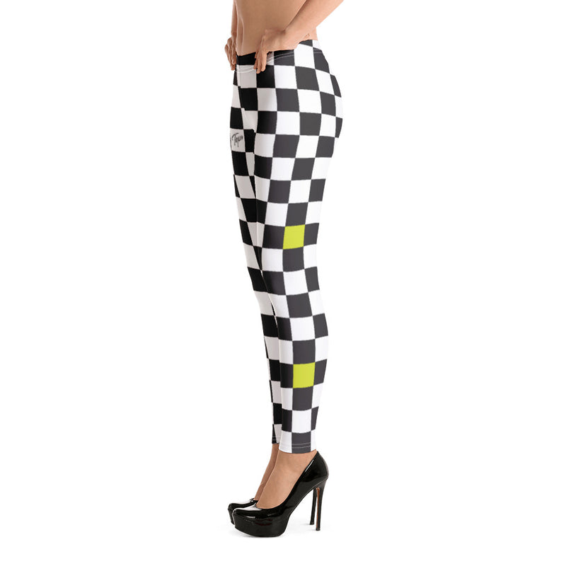 CHEEBA LEGGINGS - CHECKERBOARD SLIME