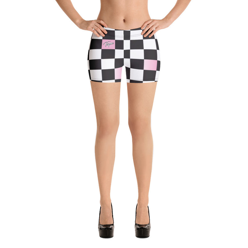 PERRY SHORTS - CHECKERBOARD BLUSH