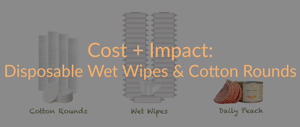 The Cost of Disposable Wet Wipes and Cotton Rounds