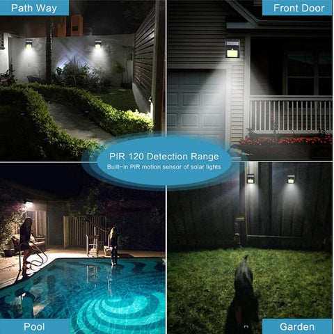 Led Solar Motion Sensor Wall Light Elicpower