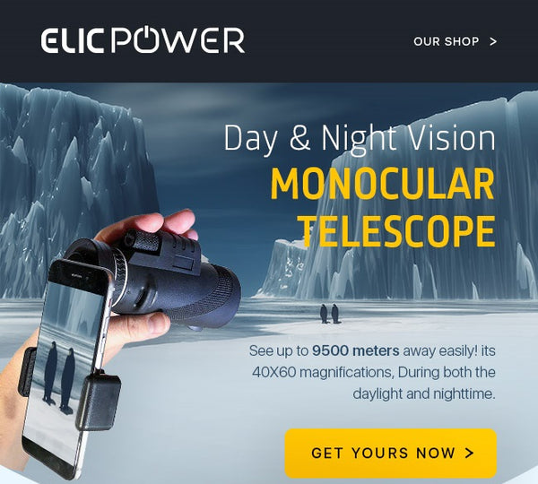 Day & Night Vision Monocular Telescope - Elicpower