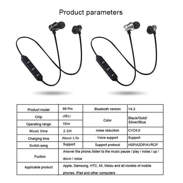 Magnetic Bluetooth Earphones