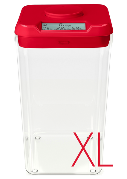 kSafe XL: (Red Lid + Clear Base)