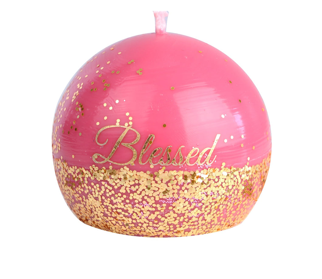 Blessed Glitter Candle
