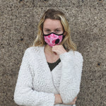 Model wearing Vogmask Cupid VMCV Particle Filtering Mask Small