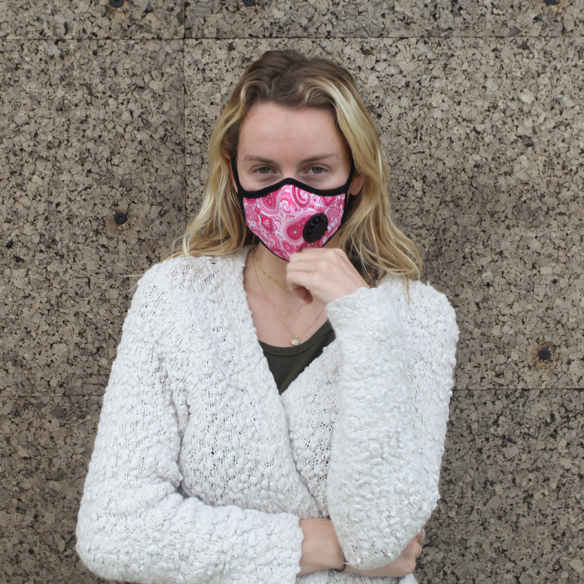 Model wearing Vogmask Cupid VMCV Particle Filtering Mask